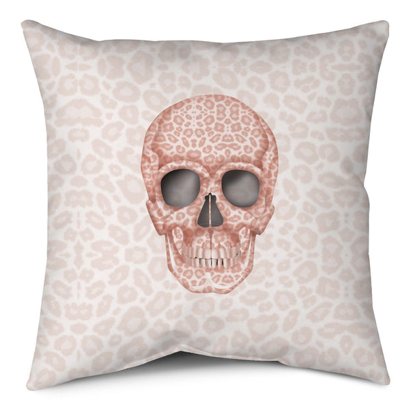 Throw Pillow - Skull Tanzania Millennial Pink throw LeighDeux, LLC