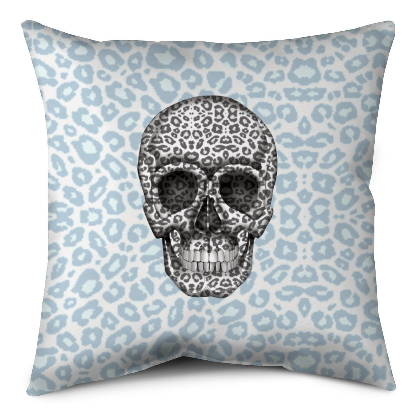 Throw Pillow - Skull Tanzania Nero/Peacock throw LeighDeux, LLC