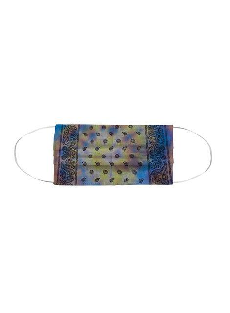 Tie Dye Bandana Facemask - Country Maize by Lindsay Rust Perper MWW
