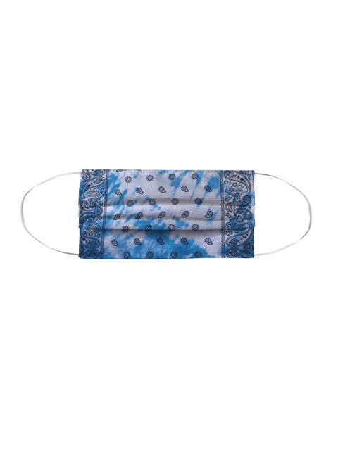 Tie Dye -Bandana Facemask - Denim Blues by Lindsay Rust Perper MWW