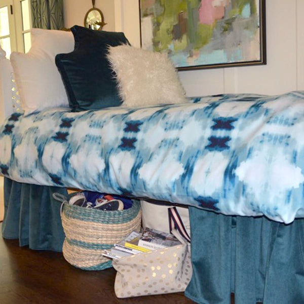 Velvet Curtain Call Bed Skirt - Laguna Shop All,Bedding Collections,Last Call SALE Springs