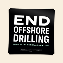 Load image into Gallery viewer, End Offshore Drilling Sticker in black and white.