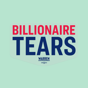 Clear Billionaire Tears Vinyl Die-Cut Sticker