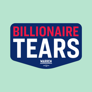 Navy Billionaire Tears Vinyl Die-Cut Sticker