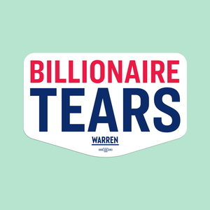White Billionaire Tears Vinyl Die-Cut Sticker