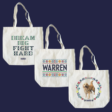 Load image into Gallery viewer, Composite image of all three cross stitch tote designs.  (4407646486637)