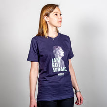 Load image into Gallery viewer, I am not Afraid Unisex T-Shirt on model. (4050784583789)
