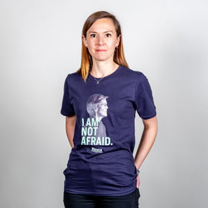I am not Afraid Unisex T-Shirt on model. (4050784583789)