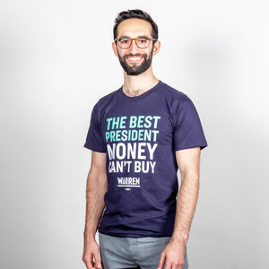 The Best President Money Can't Buy Unisex T-Shirt on model. (1534207590509)