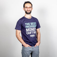 Load image into Gallery viewer, The Best President Money Can't Buy Unisex T-Shirt on model.