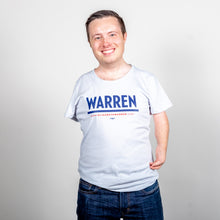 Load image into Gallery viewer, Warren Fitted T-Shirt in Gray on model.