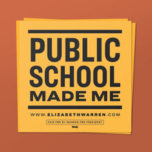 Load image into Gallery viewer, Public Schools Made Me Sticker in black and yellow.