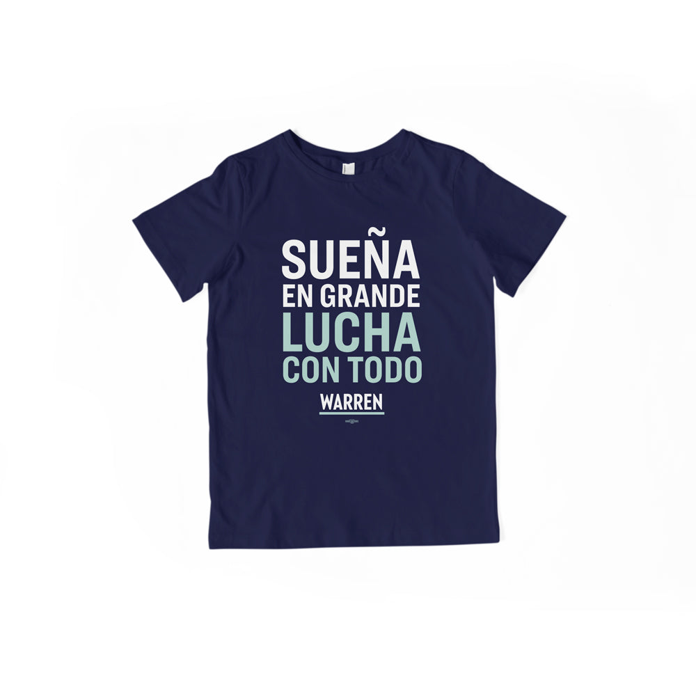 Sueña En Grande, Lucha Con Todo - Camiseta Juvenil | Dream Big, Fight Hard Youth T-Shirt