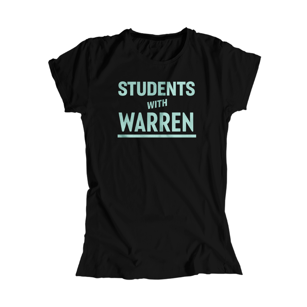Students with Warren Black Fitted T-Shirt with Liberty Green type. (4455163166829)