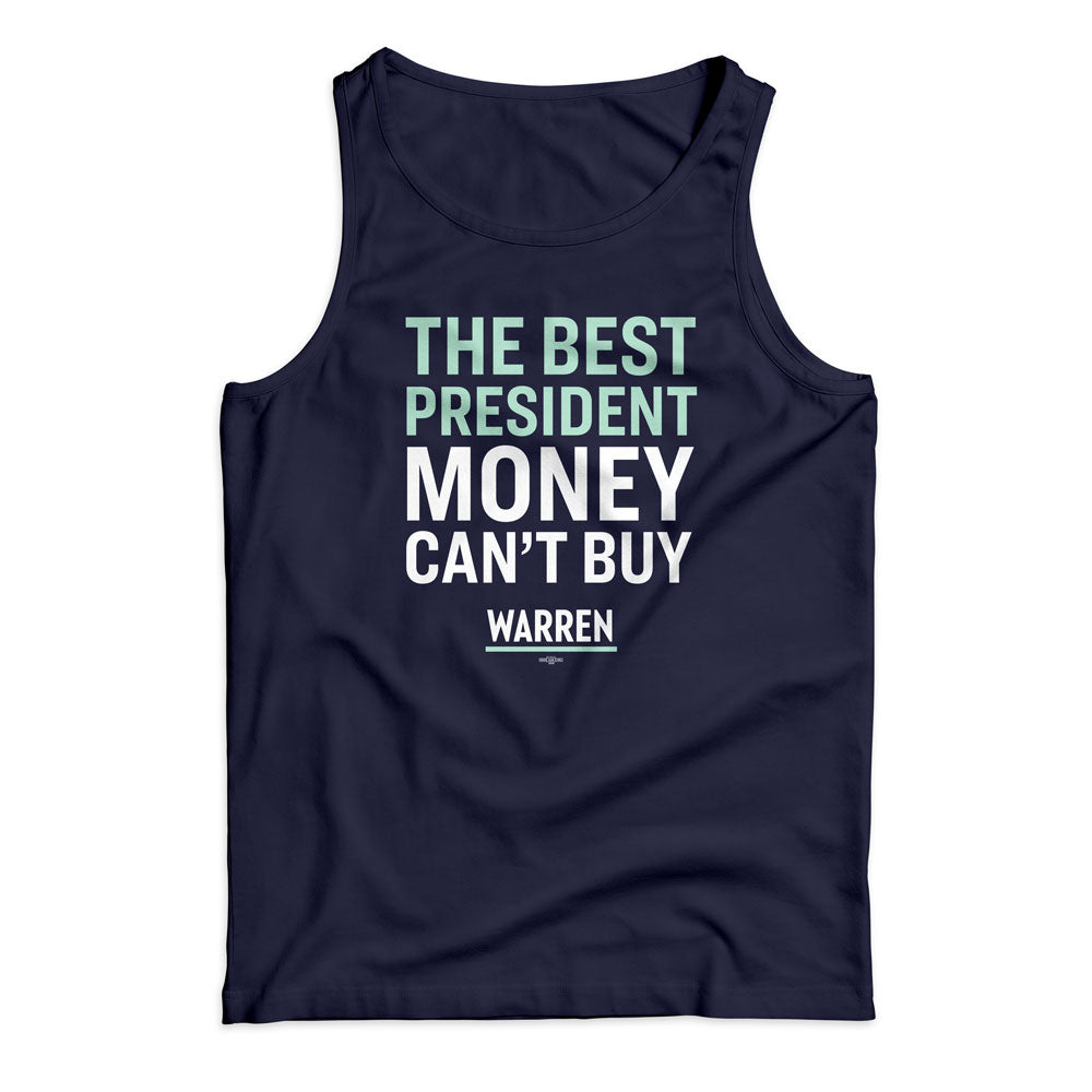 Navy unisex tank top with the phrase