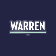Load image into Gallery viewer, White and Liberty Green Warren Vinyl Die-Cut Sticker.