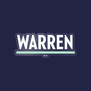 White and Liberty Green Warren Vinyl Die-Cut Sticker. (4284231188589)