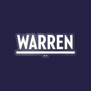 White Warren Vinyl Die-Cut Sticker. (4284231188589)