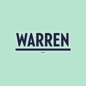 Navy Warren Vinyl Die-Cut Sticker. (4284231188589)