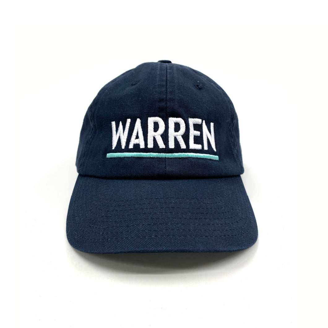 Warren Embroidered Hat (Navy) (3885282492525)