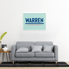 Load image into Gallery viewer, Liberty Green poster with a Navy Warren logo in the center. (4029077684333)