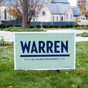 Warren Liberty Green Yard Sign (3885075824749)