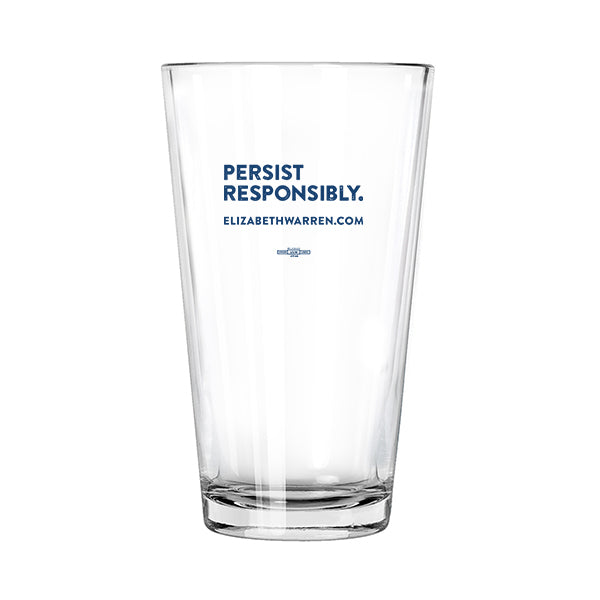 Persist Responsibly Pint Glass