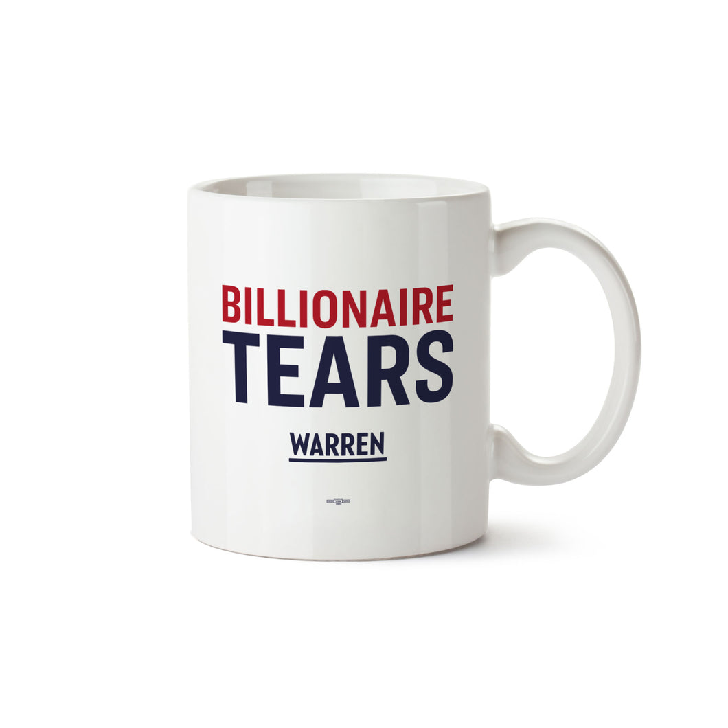 White mug with the words