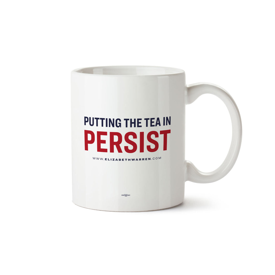 White mug with the phrase