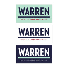 Load image into Gallery viewer, Warren Bumper Sticker Pack