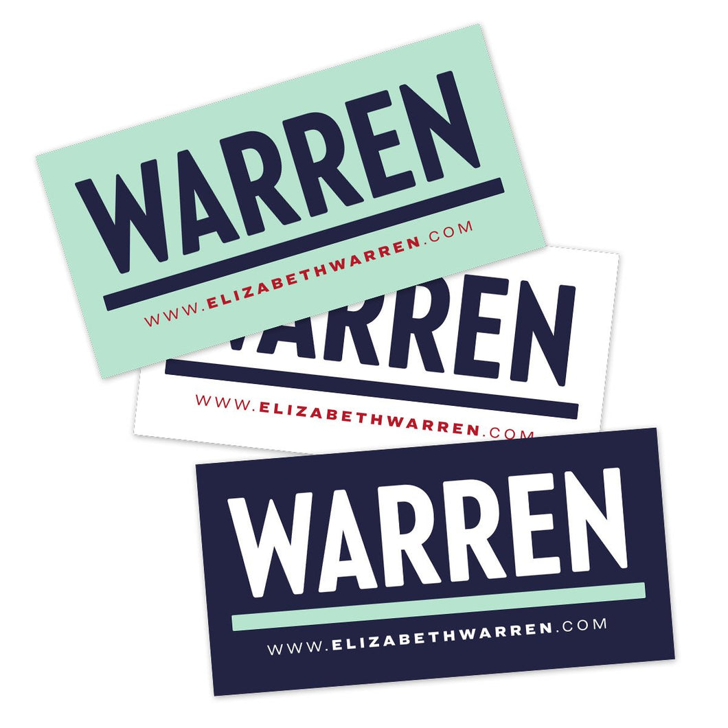 Warren Bumper Sticker Pack (3928570789997)