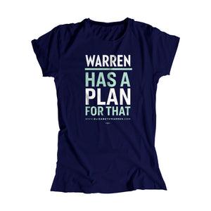 Warren has a plan for that fitted t-shirt in navy with white and liberty green type. (1623880433773)
