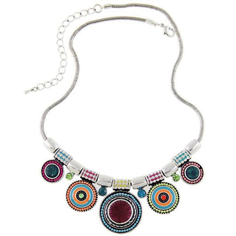 BOHO Round Pendant Necklace Default Title