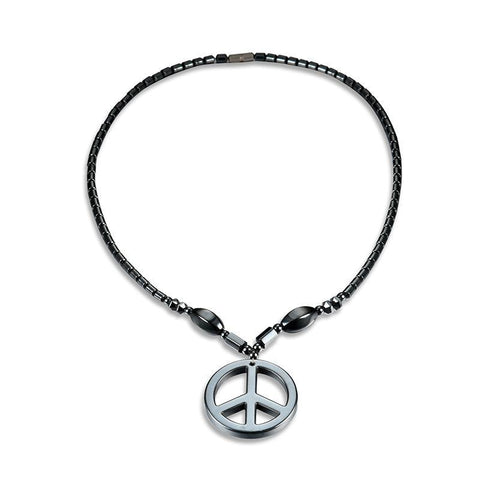 Hematite Peace Necklace