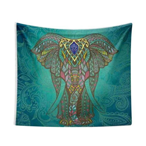Indian Elephant Crowned Mandala Wall Hanging Default Title
