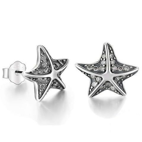 Sterling Silver Adorable Starfish Earrings
