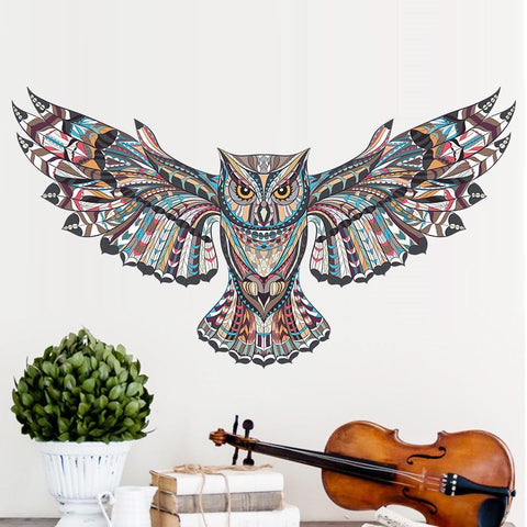 Tribal Owl Wall Decal