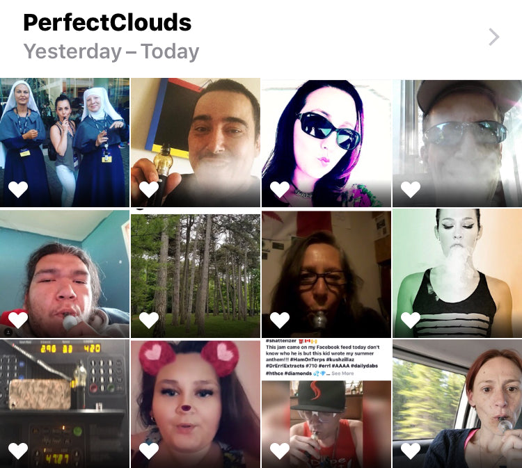 Perfect Clouds Selfie Prize Pack Winners!