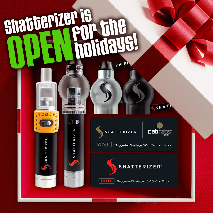 Shatterizer is OPEN for the Happy Holidays!