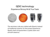 Shatterizer replacement QDC Quartz Dual Coils 5 Packs