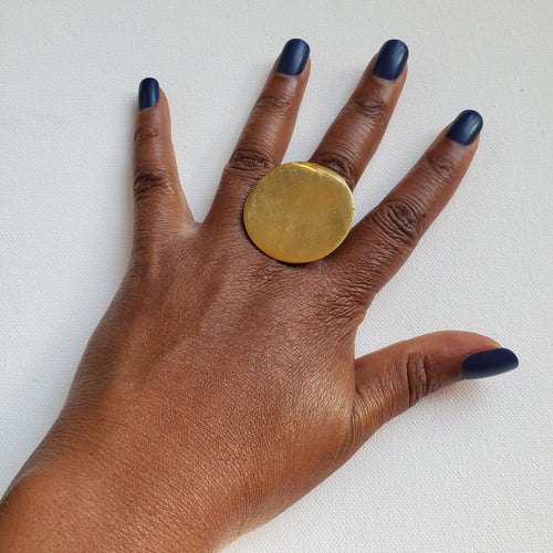 Round Brass Ring, Sz 7