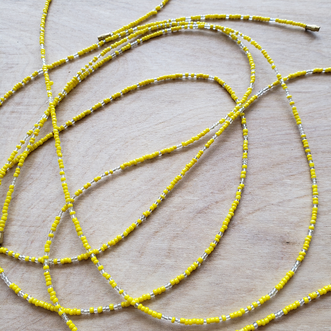 Yellow + Clear Waist Beads