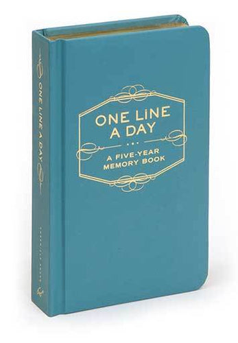 One Line Day Memory Journal - Tiffany Blue
