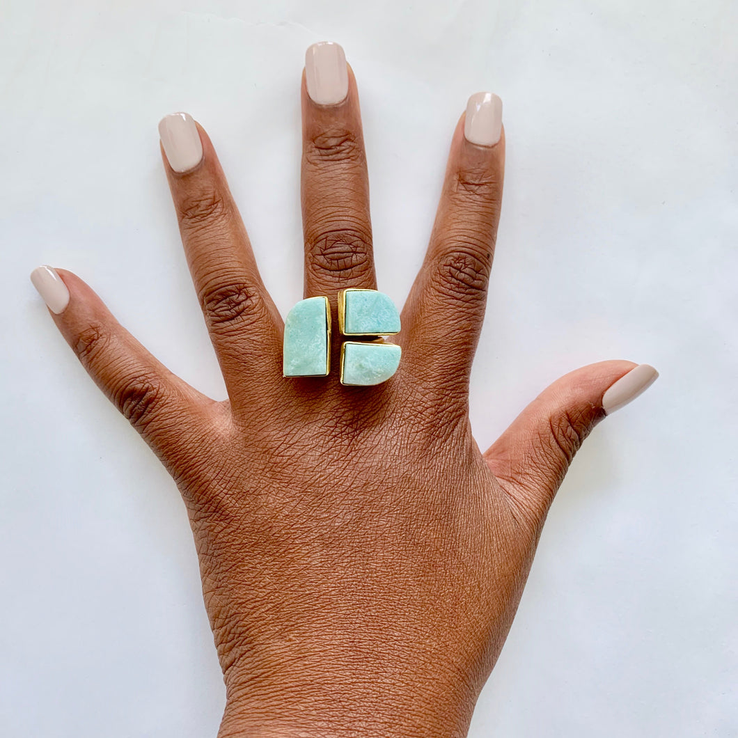 Larimar Ring, Adjustable