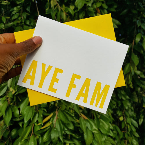 Aye Fam Greeting Card