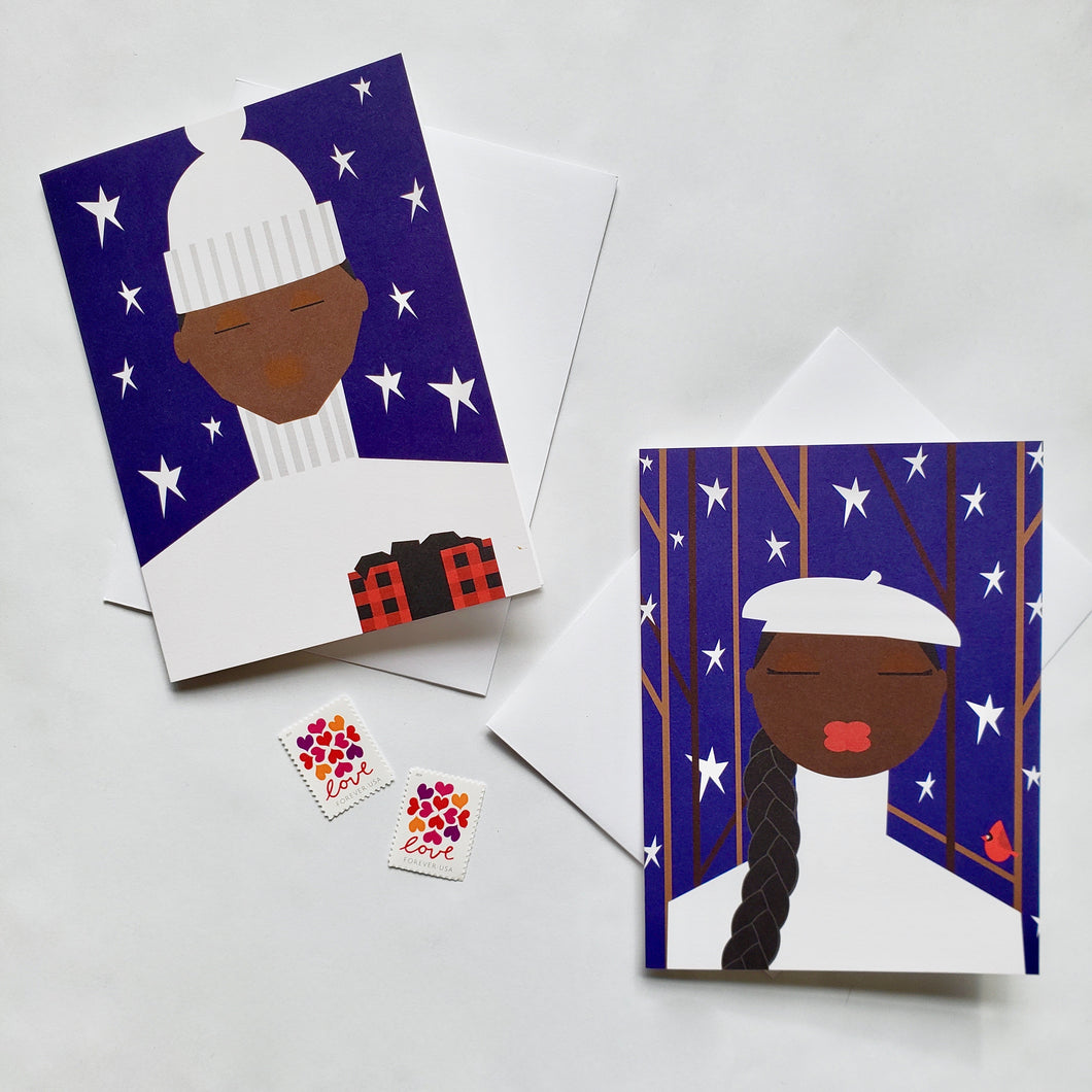 Let's Hit the Slopes Greeting Card Set