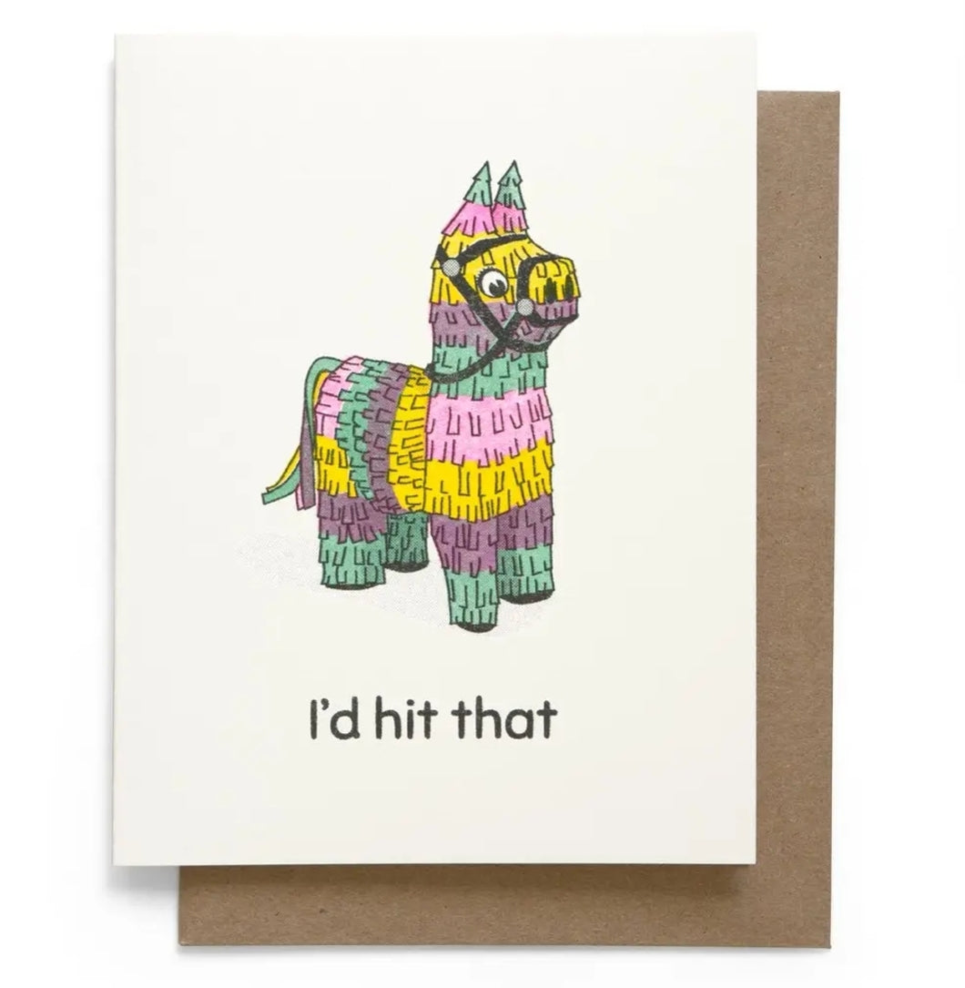 I'd Hit That Greeting Card