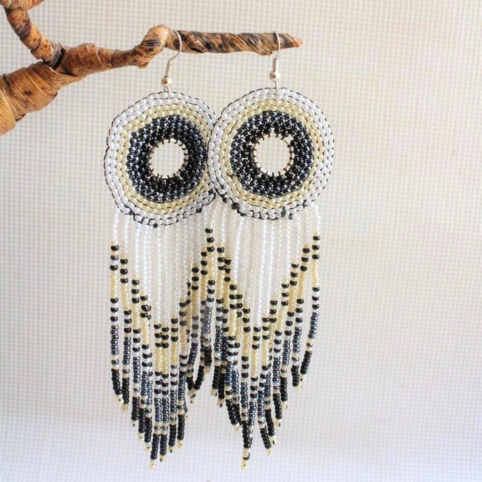 Dreamcatcher Beaded Earrings