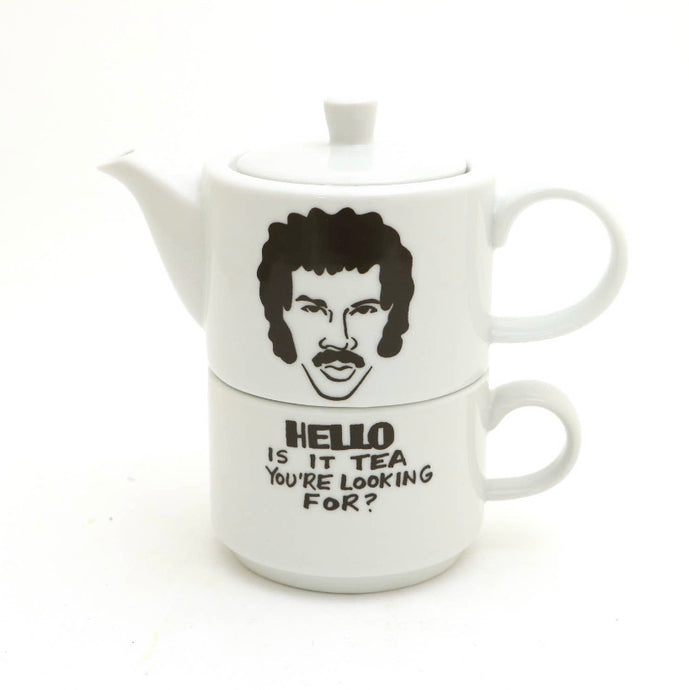 Hello Is It Tea You're Looking For Cup + Pot Set