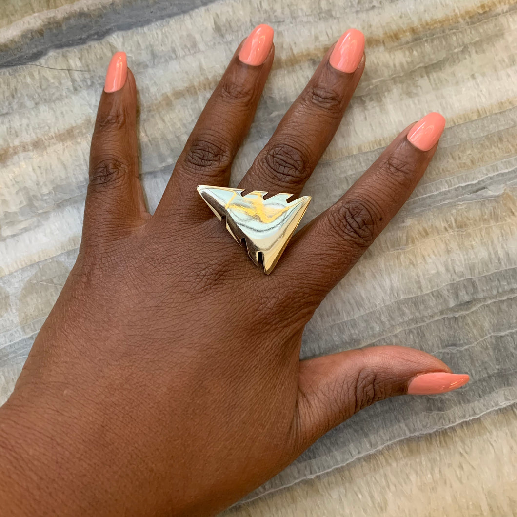 Arrowhead Brass Ring